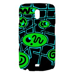 Green and blue abstraction Samsung Galaxy Nexus i9250 Hardshell Case
