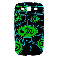 Green and blue abstraction Samsung Galaxy S III Hardshell Case