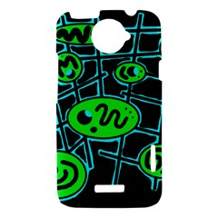 Green and blue abstraction HTC One X Hardshell Case
