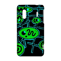 Green and blue abstraction HTC Evo Design 4G/ Hero S Hardshell Case