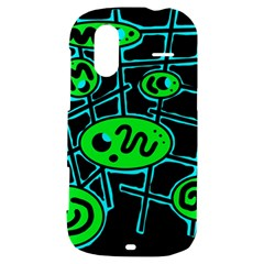 Green and blue abstraction HTC Amaze 4G Hardshell Case