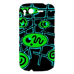 Green and blue abstraction HTC Desire S Hardshell Case