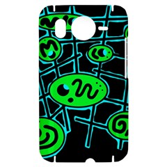 Green and blue abstraction HTC Desire HD Hardshell Case