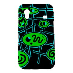 Green and blue abstraction Samsung Galaxy Ace S5830 Hardshell Case