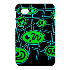 Green and blue abstraction Samsung Galaxy Tab 7  P1000 Hardshell Case