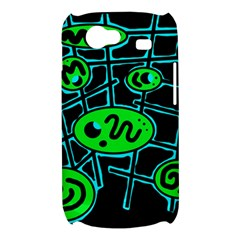 Green and blue abstraction Samsung Galaxy Nexus S i9020 Hardshell Case