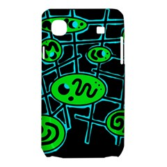 Green and blue abstraction Samsung Galaxy SL i9003 Hardshell Case