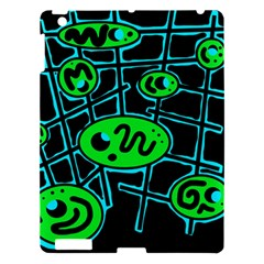 Green and blue abstraction Apple iPad 3/4 Hardshell Case
