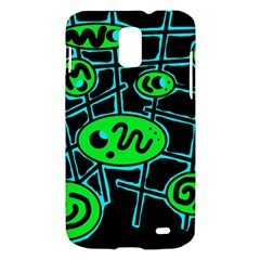 Green and blue abstraction Samsung Galaxy S II Skyrocket Hardshell Case