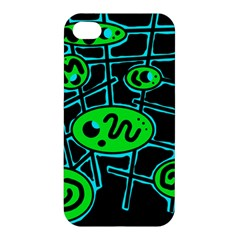 Green and blue abstraction Apple iPhone 4/4S Premium Hardshell Case