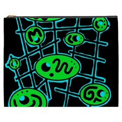 Green and blue abstraction Cosmetic Bag (XXXL)