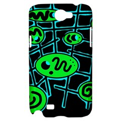 Green and blue abstraction Samsung Galaxy Note 2 Hardshell Case