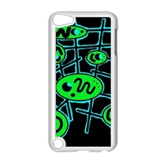 Green and blue abstraction Apple iPod Touch 5 Case (White)