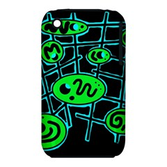 Green and blue abstraction Apple iPhone 3G/3GS Hardshell Case (PC+Silicone)