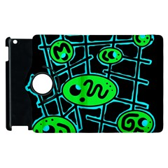 Green and blue abstraction Apple iPad 3/4 Flip 360 Case