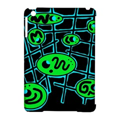 Green and blue abstraction Apple iPad Mini Hardshell Case (Compatible with Smart Cover)