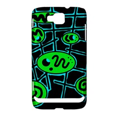 Green and blue abstraction Samsung Ativ S i8750 Hardshell Case