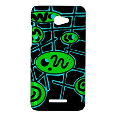 Green and blue abstraction HTC Butterfly X920E Hardshell Case