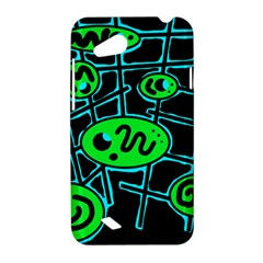 Green and blue abstraction HTC Desire VC (T328D) Hardshell Case