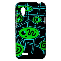 Green and blue abstraction HTC Desire VT (T328T) Hardshell Case
