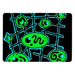 Green and blue abstraction Samsung Galaxy Tab 10.1  P7500 Flip Case