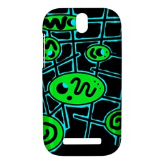 Green and blue abstraction HTC One SV Hardshell Case
