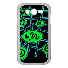 Green and blue abstraction Samsung Galaxy Grand DUOS I9082 Case (White)