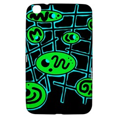 Green and blue abstraction Samsung Galaxy Tab 3 (8 ) T3100 Hardshell Case