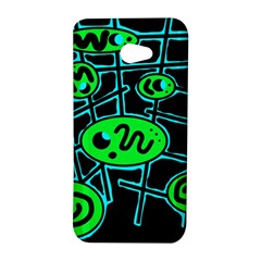 Green and blue abstraction HTC Butterfly S/HTC 9060 Hardshell Case
