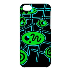 Green and blue abstraction Apple iPhone 5C Hardshell Case