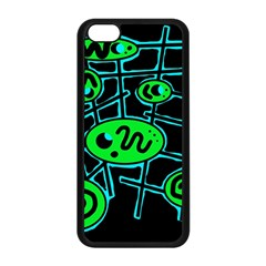 Green and blue abstraction Apple iPhone 5C Seamless Case (Black)