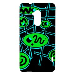 Green and blue abstraction HTC One Max (T6) Hardshell Case