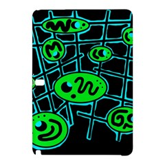 Green and blue abstraction Samsung Galaxy Tab Pro 12.2 Hardshell Case