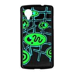 Green and blue abstraction Nexus 5 Case (Black)