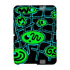 Green and blue abstraction Amazon Kindle Fire (2012) Hardshell Case