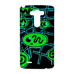 Green and blue abstraction LG G3 Hardshell Case