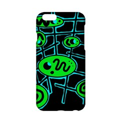 Green and blue abstraction Apple iPhone 6/6S Hardshell Case