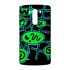Green and blue abstraction LG G3 Back Case