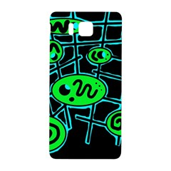 Green and blue abstraction Samsung Galaxy Alpha Hardshell Back Case