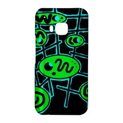 Green and blue abstraction HTC One M9 Hardshell Case