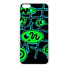 Green and blue abstraction Apple Seamless iPhone 6 Plus/6S Plus Case (Transparent)