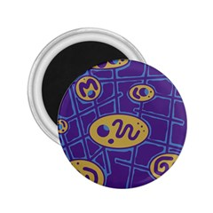 Purple and yellow abstraction 2.25  Magnets