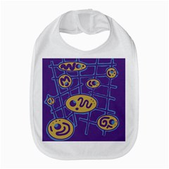 Purple and yellow abstraction Bib