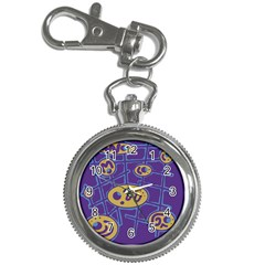 Purple and yellow abstraction Key Chain Watches
