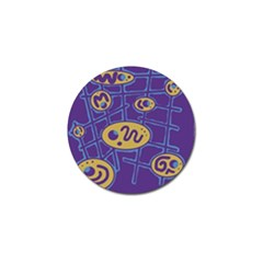 Purple and yellow abstraction Golf Ball Marker