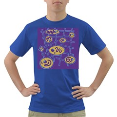 Purple and yellow abstraction Dark T-Shirt