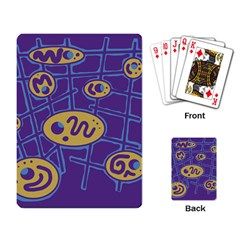 Purple and yellow abstraction Playing Card
