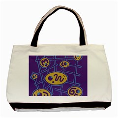 Purple and yellow abstraction Basic Tote Bag