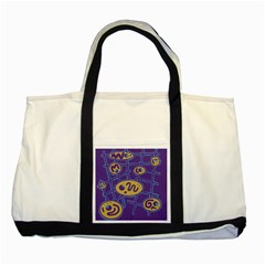 Purple and yellow abstraction Two Tone Tote Bag
