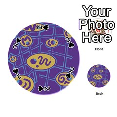 Purple and yellow abstraction Playing Cards 54 (Round)